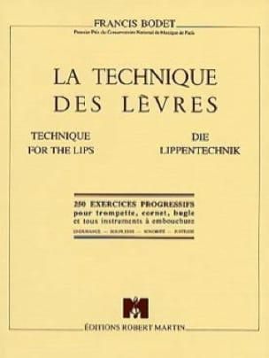 La Technique des Lèvres - Francis Bodet - Partition - laflutedepan.com