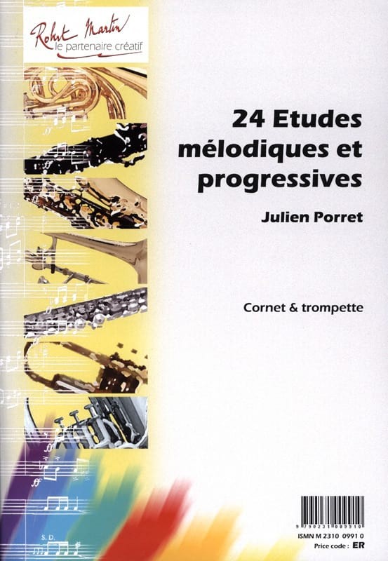 Julien Porret - 24 Melodic and Progressive Studies - Partition - di-arezzo.co.uk