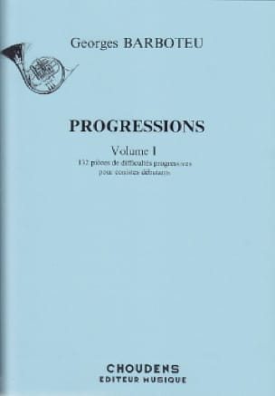 Georges Barboteu - Volume 1 Progressions - Partition - di-arezzo.co.uk