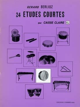 24 Etudes Courtes Volume G - BERLIOZ - Partition - laflutedepan.com