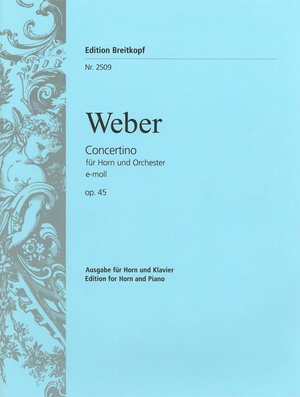 Carl Maria Von Weber - Concertino E-Moll Opus 45 - Partition - di-arezzo.es