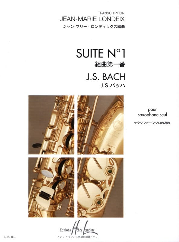 BACH - Suite N° 1 - Partition - di-arezzo.fr