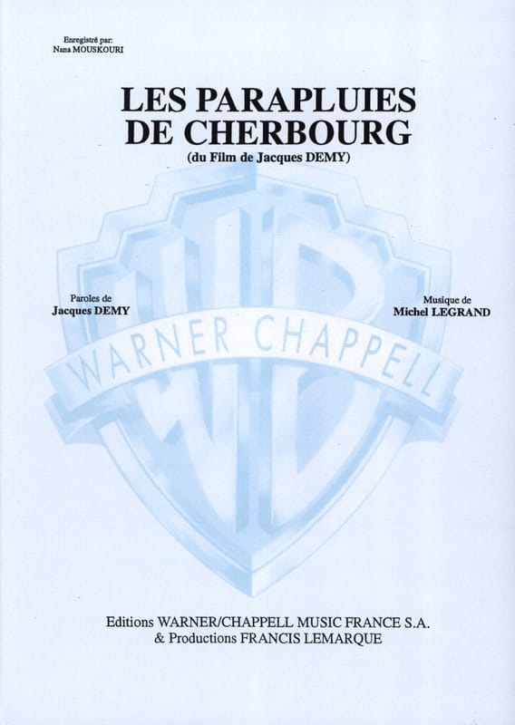 Michel Legrand - Las sombrillas de Cherbourg - Partition - di-arezzo.es