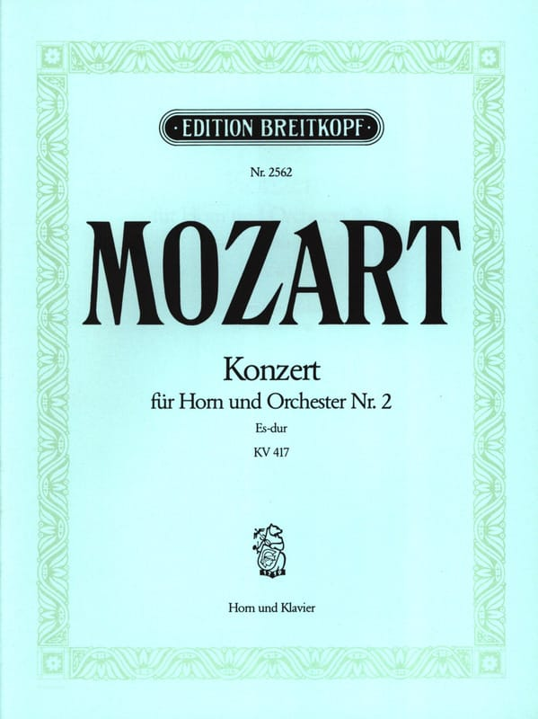 MOZART - Concerto for Horn N ° 2 KV 417 - Partition - di-arezzo.com