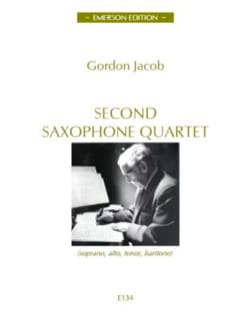 Gordon Jacob - Second Saxophone Quartet - Partition - di-arezzo.com