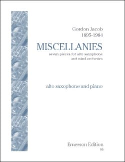 Gordon Jacob - Miscellanies - Partition - di-arezzo.com