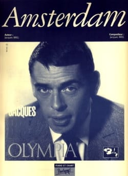 Jacques Brel - Amsterdam - Partition - di-arezzo.co.uk
