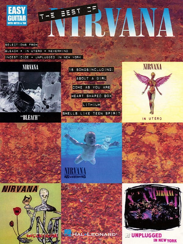 Nirvana - The Best Of - Easy Guitar - Partition - di-arezzo.com