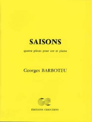 Georges Barboteu - seasons - Partition - di-arezzo.co.uk