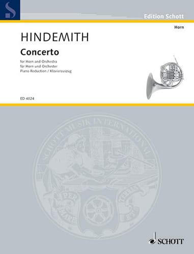 Paul Hindemith - Concerto - Partition - di-arezzo.co.uk