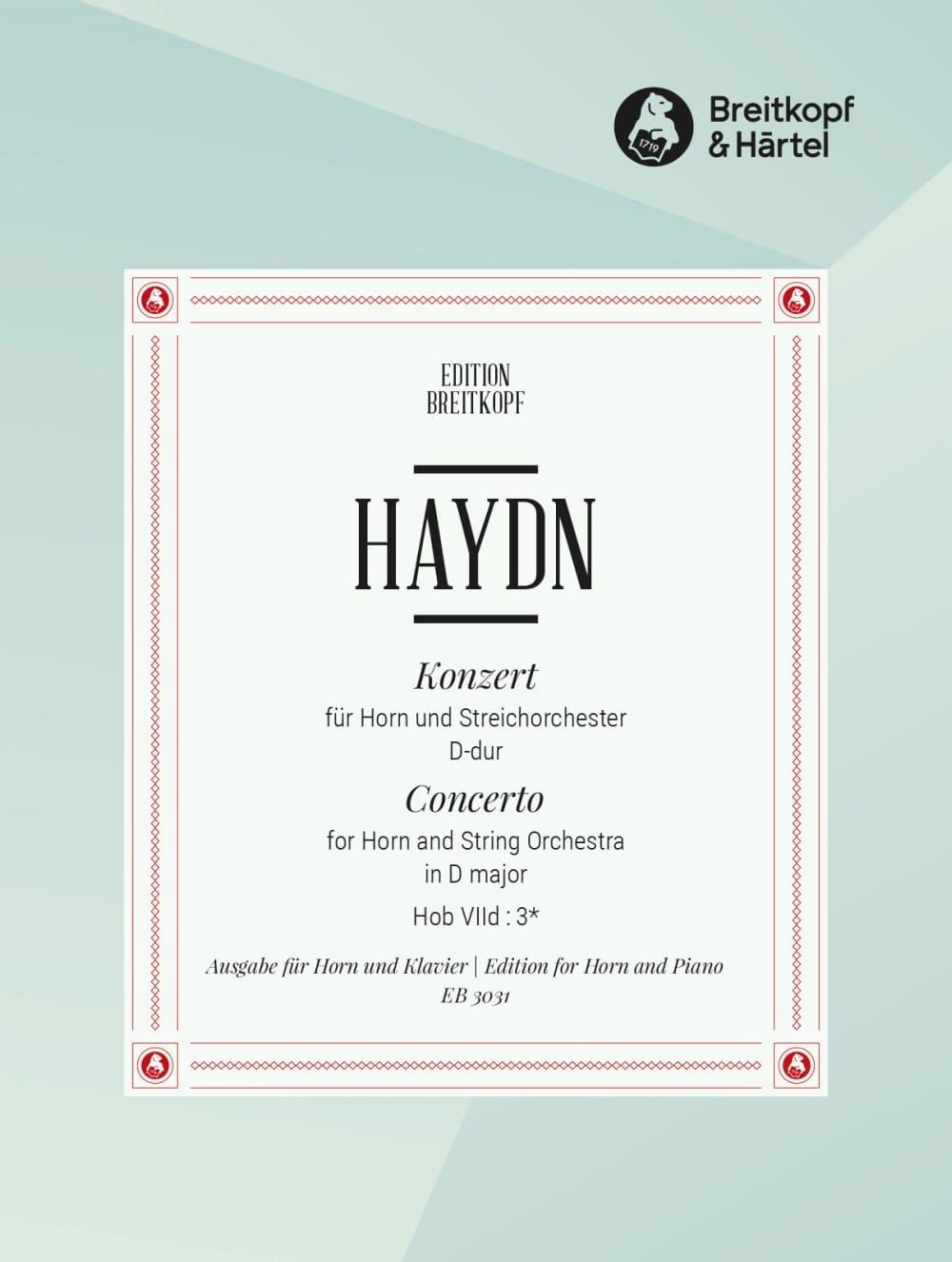 HAYDN - Concierto para trompa n. ° 1 en re mayor - Partition - di-arezzo.es
