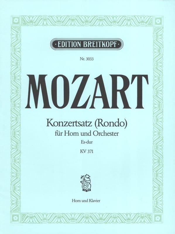 MOZART - Konzertsatz Rondo Es-Dur. KV 371 - Partition - di-arezzo.co.uk