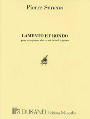 Lamento Et Rondo - Pierre Sancan - Partition - laflutedepan.com
