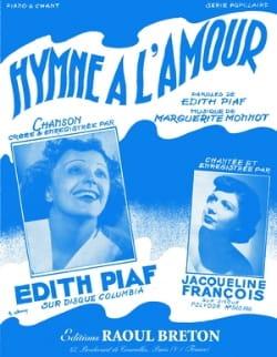 Hymne A L'amour - Edith Piaf - Partition - laflutedepan.com
