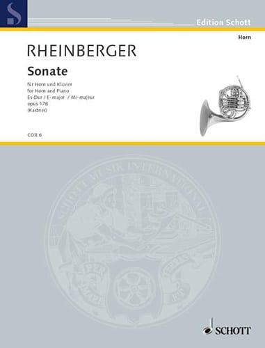 Sonate en Mib majeur Opus 178 - RHEINBERGER - laflutedepan.com