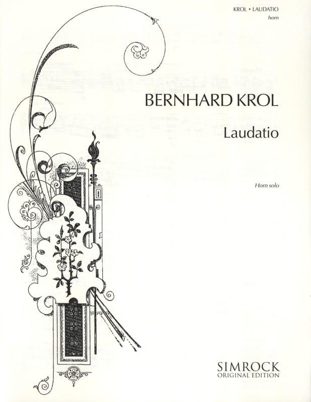 Bernhard Krol - Laudatio - Partition - di-arezzo.co.uk