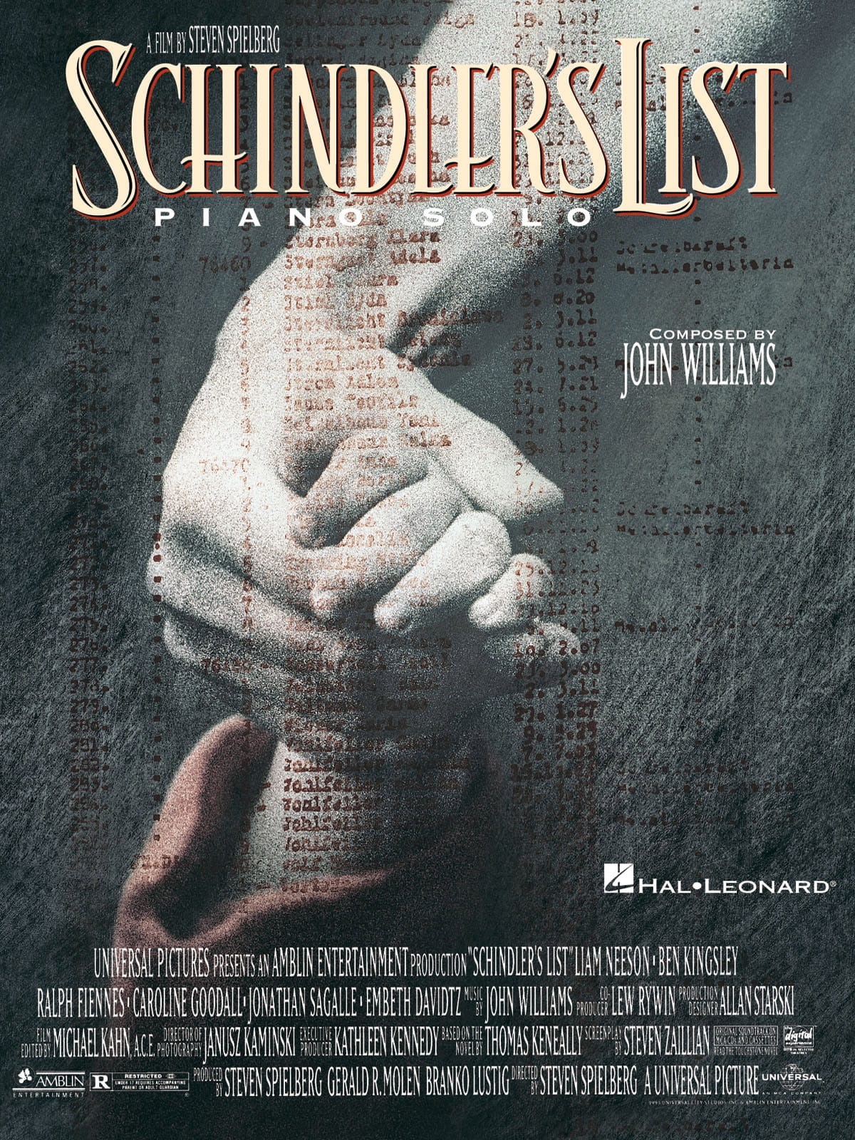 John Williams - Schindler's List - Partition - di-arezzo.co.uk