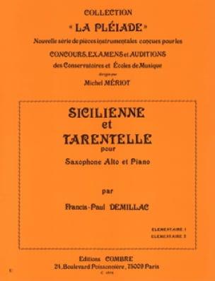 Sicilienne Et Tarentelle - Francis-Paul Demillac - laflutedepan.com