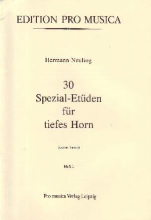 Hermann Neuling - 30 Spezial-Etüden Volume 1 - Partition - di-arezzo.co.uk