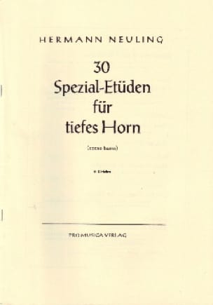 Hermann Neuling - 30 Spezial-Etüden Volume 2 - Partition - di-arezzo.co.uk
