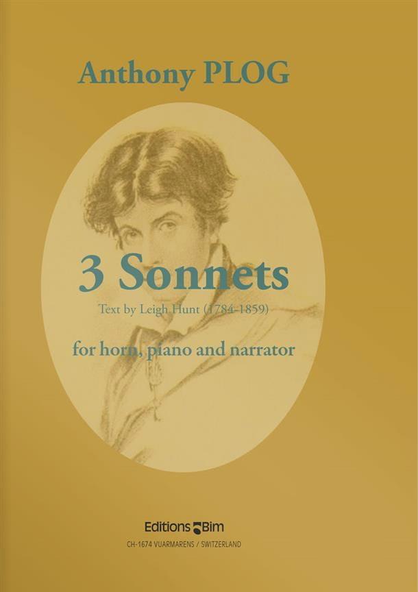 Three Sonnets - Anthony Plog - Partition - Cor - laflutedepan.com