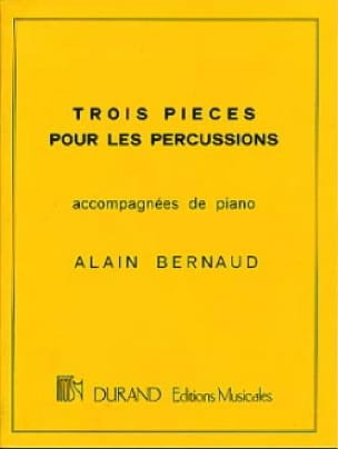 Alain Bernaud - Three Percussion Parts - Partition - di-arezzo.com