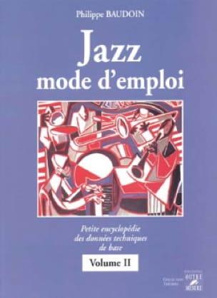 Jazz mode d'emploi volume 2 - Philippe Baudoin - laflutedepan.com