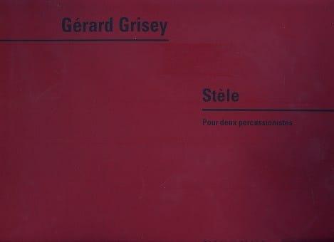 Stèle - Gérard Grisey - Partition - laflutedepan.com