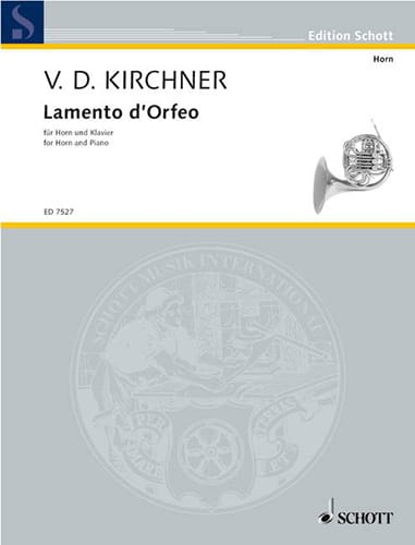 Volker David Kirchner - Lamento D' Orfeo - Partition - di-arezzo.fr