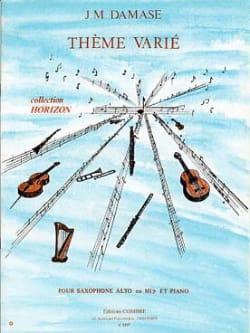 Jean-Michel Damase - Varied Theme - Partition - di-arezzo.com