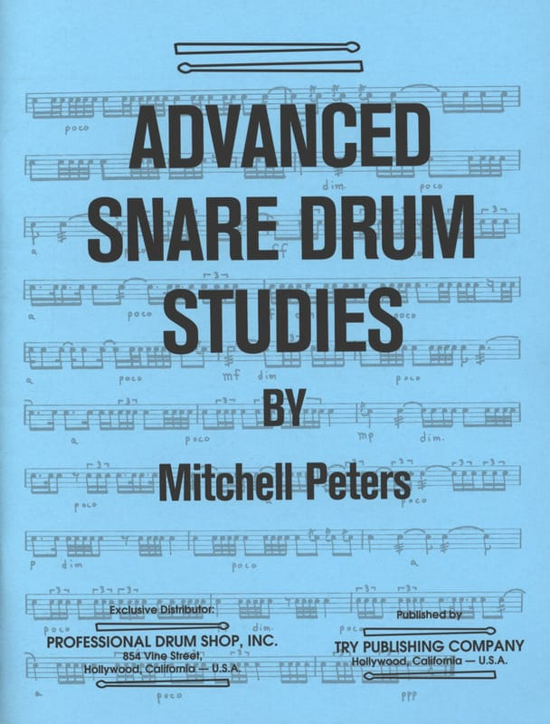 Mitchell Peters - Advanced Snare Drum Studies - Partition - di-arezzo.co.uk