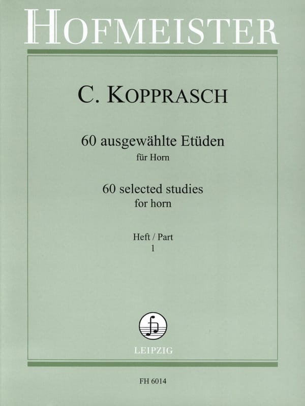 Georg Kopprasch - 60 Ausgewählte Etüden Für Horn Heft 1 - Partition - di-arezzo.com