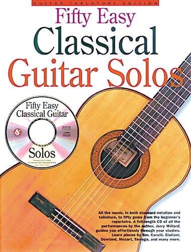 Fifty Easy Classical Guitare Solos - Partition - laflutedepan.com