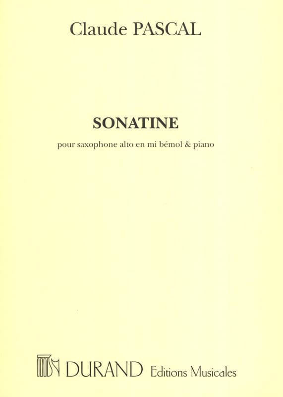 Claude Pascal - Sonatine - Partition - di-arezzo.co.uk