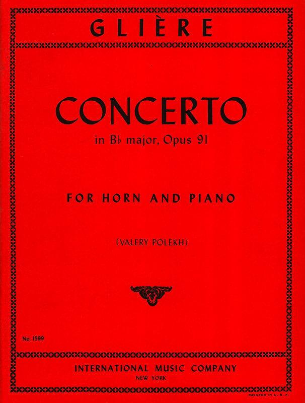 Reinhold Glière - Concerto In Bb Major Opus 91 - Partition - di-arezzo.com