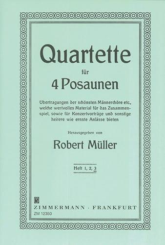 Robert Müller - Quartet Volume 3 - Partition - di-arezzo.co.uk