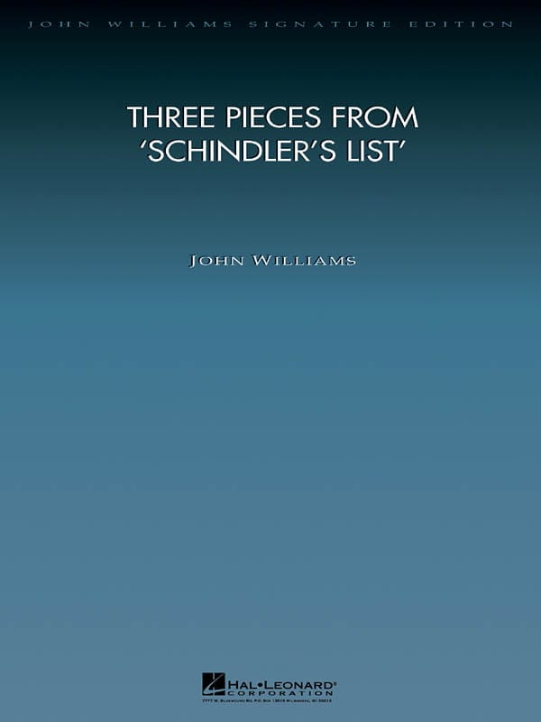 John Williams - Schindler's List - Three pieces from ... - Partition - di-arezzo.com