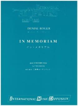 Denise Roger - In Memoriam - Partition - di-arezzo.co.uk