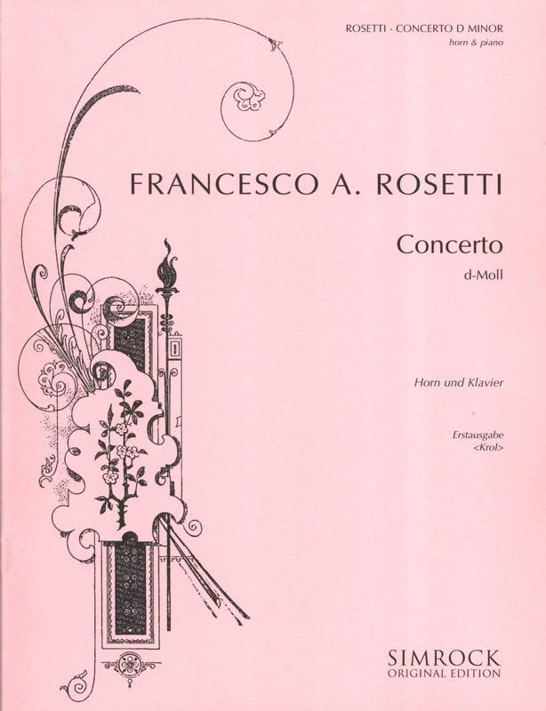 Francesco Antonio Rosetti - Concerto in D Minor - Partition - di-arezzo.com