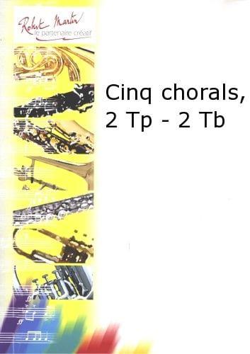 Cinq Chorals - BACH - Partition - laflutedepan.com