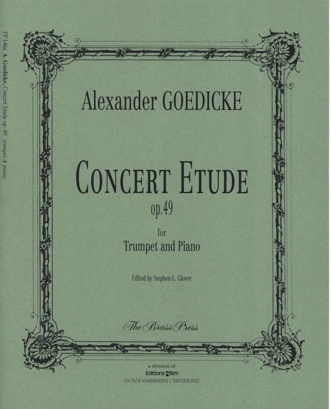 Alexander Goedicke - Concert study opus 49 - Partition - di-arezzo.com