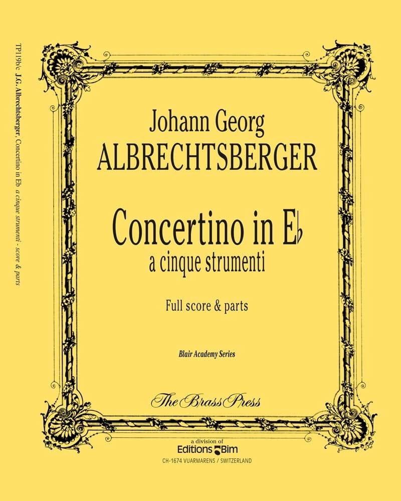 Concertino In Eb - Johann Georg Albrechtsberger - laflutedepan.com