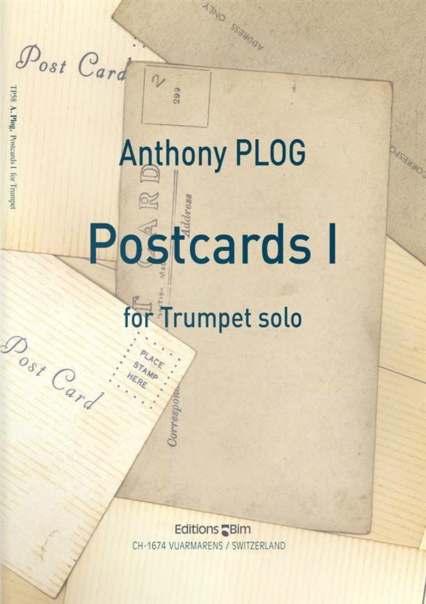 Anthony Plog - Postcards I - Partition - di-arezzo.co.uk
