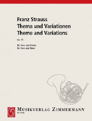 Franz Strauss - Thema Und Variationen Opus 13 - Partition - di-arezzo.co.uk