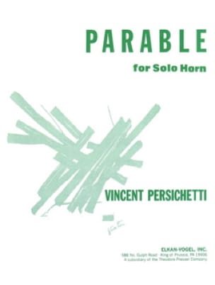 Vincent Persichetti - Parable 8 opus 120 - Partition - di-arezzo.com