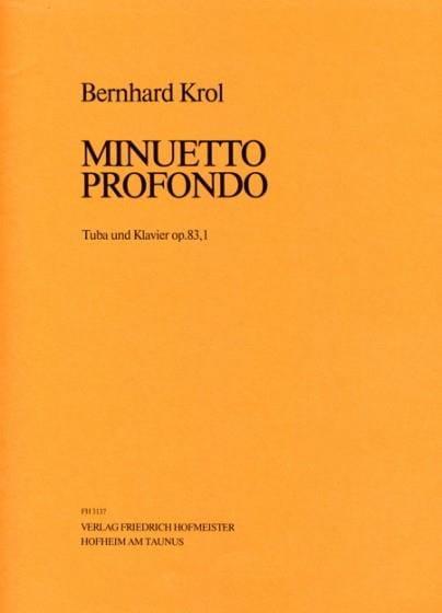 Bernhard Krol - Minuetto Profondo Opus 83.1 - Partition - di-arezzo.co.uk