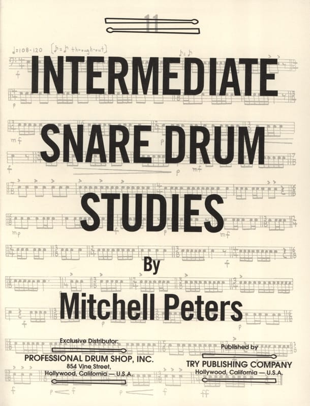 Mitchell Peters - Intermediate Snare Drum Studies - Partition - di-arezzo.co.uk