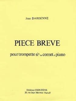 Pièce Brève - Jean Dardenne - Partition - Trompette - laflutedepan.com
