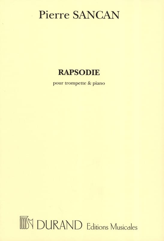 Pierre Sancan - Rhapsody - Partition - di-arezzo.co.uk