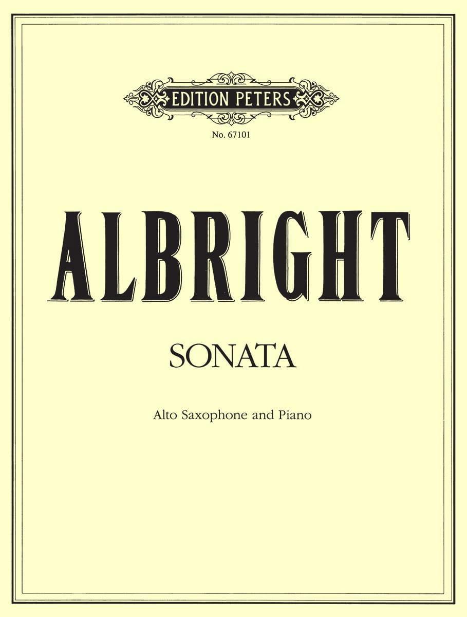 Sonata - William Albright - Partition - Saxophone - laflutedepan.com